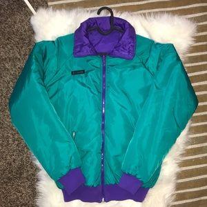 Vintage Columbia reversible puffer jacket